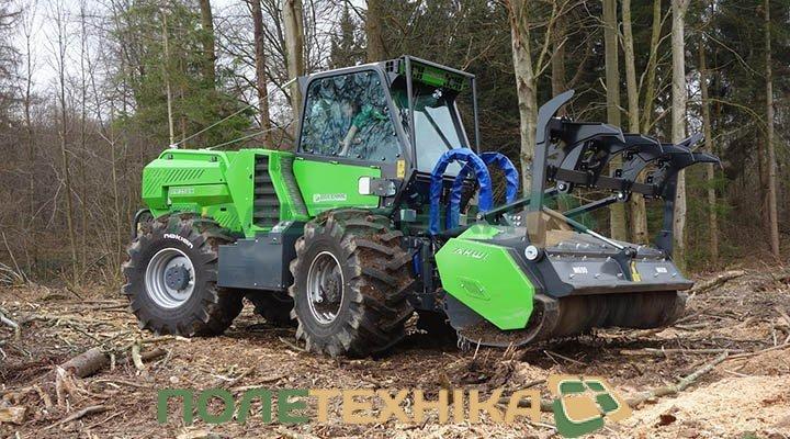 Самоходный мульчер MERLO MM 350 для полного измельчения деревьев, пней и кустарников